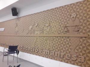 MURAL DEPARTAMENT EDUCACIÓ. MANRESA 10